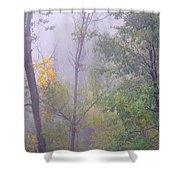 Yellow In The Fog Shower Curtain