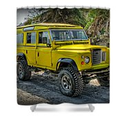 Yellow Jeep Shower Curtain