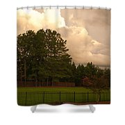 Yellow Lawn Chairs Shower Curtain