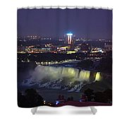 Yellow Light Over The Niagara Falls  - Canada Shower Curtain