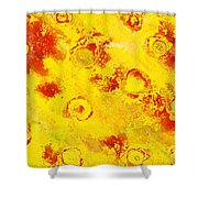 Yellow Mud Bubbles Shower Curtain