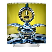 Yellow Roadster Shower Curtain