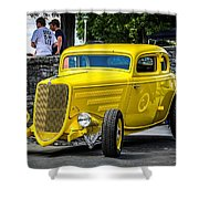 Yellow Rod Shower Curtain
