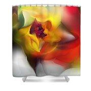Yellow Rose Fantasy Shower Curtain