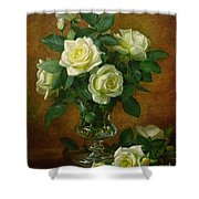 Yellow Roses Shower Curtain by Albert Williams