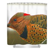 Yellow Shafted Flicker Shower Curtain