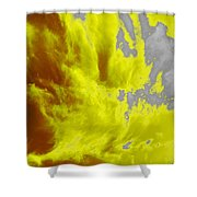 Yellow Sky Shower Curtain