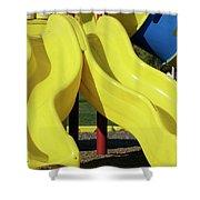 Yellow Slides Shower Curtain