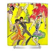 Yellow Song Sheet Shower Curtain