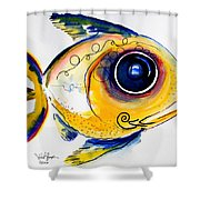 Yellow Study Fish Shower Curtain by J Vincent Scarpace