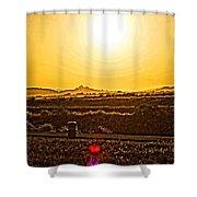 Yellow Sun Shower Curtain