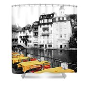 Yellow Tablecloths Shower Curtain