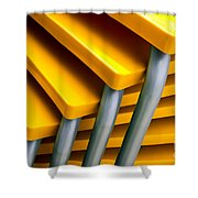 Yellow Tables Shower Curtain
