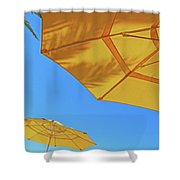 Yellow Time  Shower Curtain