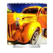 Yellow Truck 2 Shower Curtain