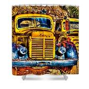 Yellow Trucks Shower Curtain