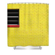 Yellow Wall 2 Shower Curtain