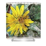 Yellow Wildflower Photoart Shower Curtain