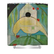 Yellowbird Whitehouse Shower Curtain