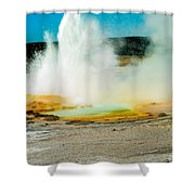 Yellowstone Geysers Shower Curtain