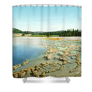 Yellowstone: Hot Spring Shower Curtain