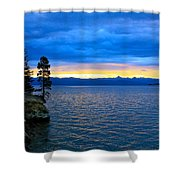 Yellowstone Lake Sunrise Shower Curtain