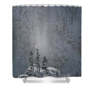 Yellowstone National Park, Winter View Shower Curtain