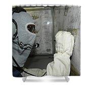 Yeoman Plots Simulated Damage Shower Curtain