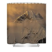 Yerupaja Summit Ridge 6617m At Sunset Shower Curtain
