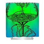 Yggdrasil From Norse Mythology Shower Curtain