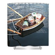 Yo Ho Ho And A Skiff Full Of Beer Shower Curtain