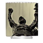 Yo Rocky Shower Curtain by Bill Cannon