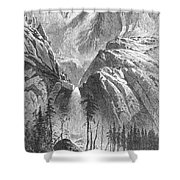 Yosemite Falls, 1874 Shower Curtain