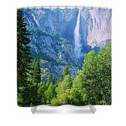 Yosemite Falls And Merced River Shower Curtain