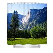 Yosemite Falls From The Ahwahnee Shower Curtain