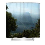 Yosemite Falls Hike Shower Curtain