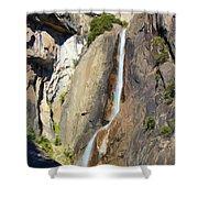 Yosemite Falls Rainbow Shower Curtain