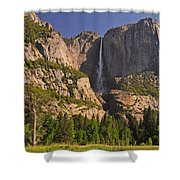 Yosemite Fall's Spring Flow Shower Curtain