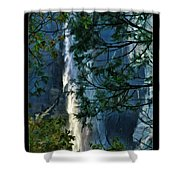 Yosemite Falls Through Trees Shower Curtain
