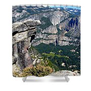 Yosemite Valley From Glacier Point Shower Curtain