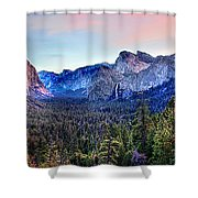 Yosemite Valley From Tunnel Shower Curtain