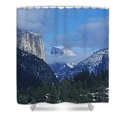 Yosemite View In Snow Shower Curtain