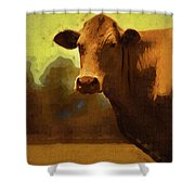 You Can Not Cow Me Shower Curtain