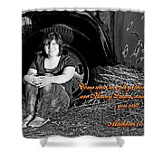 You Shall Find Rest Shower Curtain
