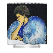 Young Billie Holiday Shower Curtain