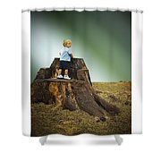 Young Boy Shower Curtain