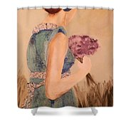 Young Girl Young Woman Shower Curtain