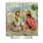 Young Girls On The Beach Shower Curtain