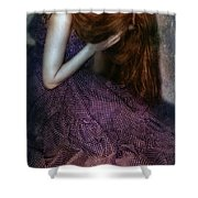 Young Lady Crying Shower Curtain