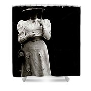 Young  Lady Shady Shower Curtain